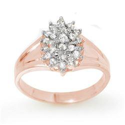 0.25 CTW Certified VS/SI Diamond Ring 18K Rose Gold - REF-41K3W - 13393