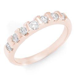 0.65 CTW Certified VS/SI Diamond Ring 14K Rose Gold - REF-57Y8K - 11434
