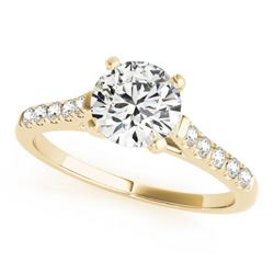1.2 CTW Certified VS/SI Diamond Solitaire Ring 18K Yellow Gold - REF-358T2M - 27584