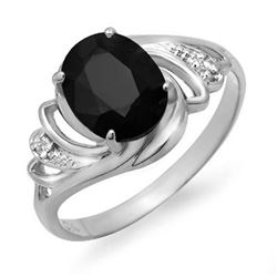 2.53 CTW Blue Sapphire & Diamond Ring 14K White Gold - REF-24M8H - 12673