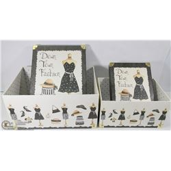 SET OF DOWNTOWN FASHION BOXES WITH BRASS