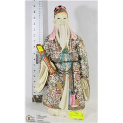 """PORCELAIN CHINESE STATUE 18"""" TALL"""