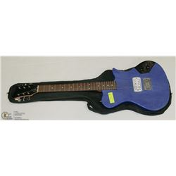 FIRST ACT ELECTRIC BLUE GUITAR WITH SOFT CASE