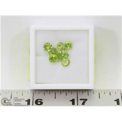 295) GENUINE PERIDOTS, ROUNDS, APPROX 4 CTS