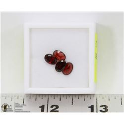 234) GENUINE GARNETS, OVAL, ASSORTED, APPROX 4CTS