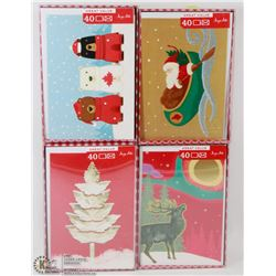 4 PACKS OF CHRISTMAS CARDS