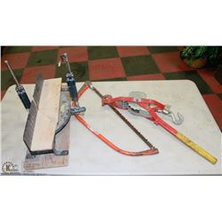COME-A-LONG SOLD WITH STANLEY MANUAL MITER