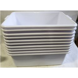 "TOTE BOX - LOT OF 10 - WHITE  7"" DEEP"