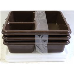 CAMBRO MEAL DELIVERY TRAYS WITH LIDS - LOT OF 3