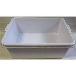 "TOTE BOX - LOT OF 2 - WHITE  7"" DEEP"