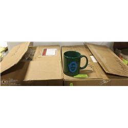 CASE & A HALF OF GREEN CERAMIC COFFEE MUGS