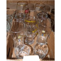 FLAT OF ASSORTED GLASSES