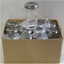 CHEESE OR PEPPER SHAKERS LOT OF 12 NEW