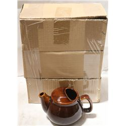 NEW TEAPOT 2 CUP - BROWN - LOT OF 6