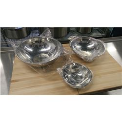 HEAVY DUTY MIXING BOWLS - LOT OF 3