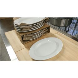 """11"""" OVAL PLATTERS - LOT OF 12"""