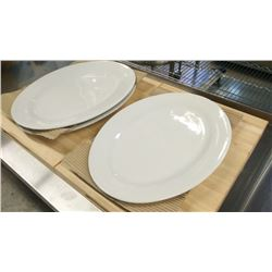 """18"""" OVAL PLATTERS - LOT OF 3"""