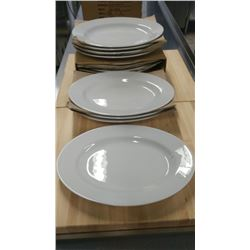 """13"""" OVAL PLATTERS - LOT OF 12"""