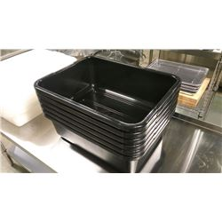 BLACK HEAVY DUTY TOTE BOXES - LOT OF 6