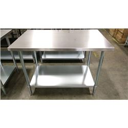 """30"""" X 60"""" STAINLESS WORK TABLE"""