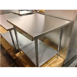 """30"""" X 48"""" STAINLESS WORK TABLE"""