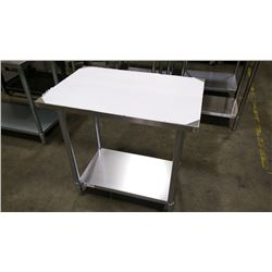 """24"""" X 36"""" S/S WORK TABLE"""
