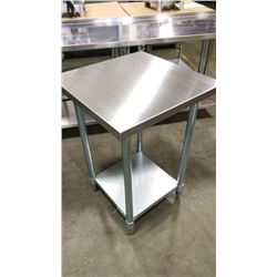 """24"""" X 24"""" S/S WORK TABLE"""