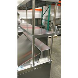 """48"""" STAINLESS STEEL DOUBLE OVER SHELF"""