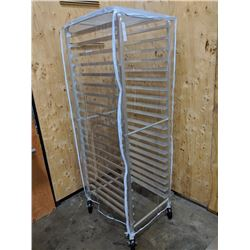20-TIER ALUMINUM PAN RACK WITH COVER