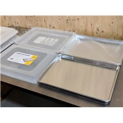 HALF SIZE PANS & COVERS - LOT OF 2