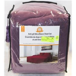 MICROFLEECE KING SIZE PURPLE ANTI PILL SHEET