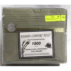 BAMBOO DOUBLE SIZE COMFORT PLUS SAGE GREEN  1800