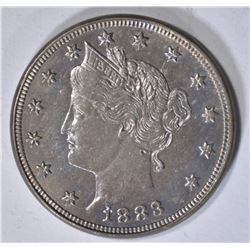 1883 WITH CENTS LIBERTY NICKEL AU/UNC NICE