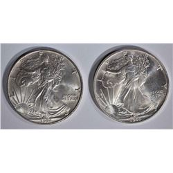 1990 & 1994 AMERICAN SILVER EAGLE DOLLARS