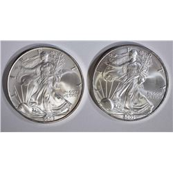 2003 & 2005 AMERICAN SILVER EAGLE DOLLARS