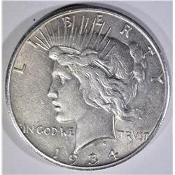 1934-S PEACE DOLLAR  XF+