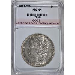 1882-O/S MORGAN DOLLAR CCGS CH BU