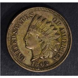1862 INDIAN HEAD CENT  BROWN  UNC