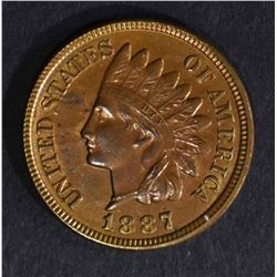 1887 INDIAN HEAD CENT  BU  R & B