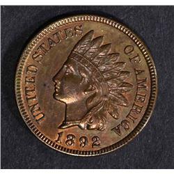 1892 INDIAN HEAD CENT  BU  R & B