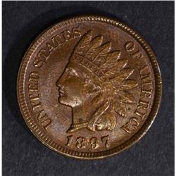 1897 INDIAN HEAD CENT  BU  R & B