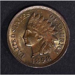 1898 INDIAN HEAD CENT   BU  R & B