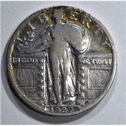 1927-S STANDING LIBERTY QUARTER  VF