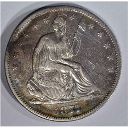 1877-S SEATED LIBERTY HALF DOLLAR  AU