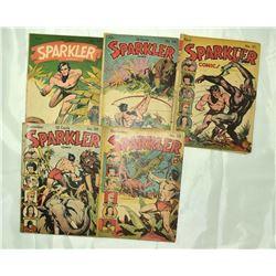 5 - TARZAN SPARKLER COMIC BOOKS