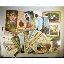 1908-1913 POST CARD LOT ( 92 ) DIFF.