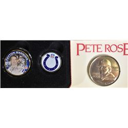 "PETE ROSE COMMEM COIN ""ALL TIME HIT"