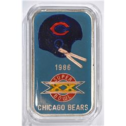 86 SUPER BOWL CHAMP 1oz CHICAGO BEARS