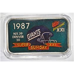87 SUPER BOWL CHAMPIONS GIANTS 1oz