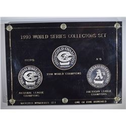 1990 WORLD SERIES 3 - 1ozt .999 MEDALLIONS